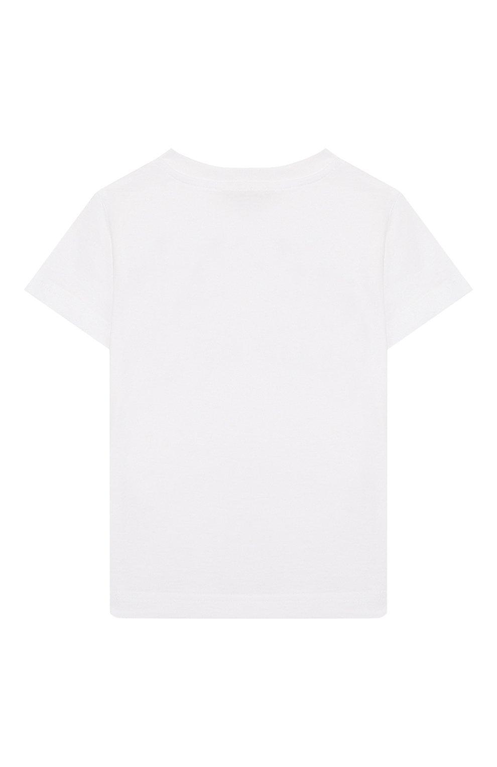 Детский хлопковая футболка IL GUFO белого цвета, арт. P20TS230M0014/24M | Фото 2 (Рукава: Короткие; Материал внешний: Хлопок)