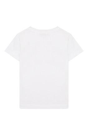 Детский хлопковая футболка IL GUFO белого цвета, арт. P20TS230M0014/24M | Фото 2