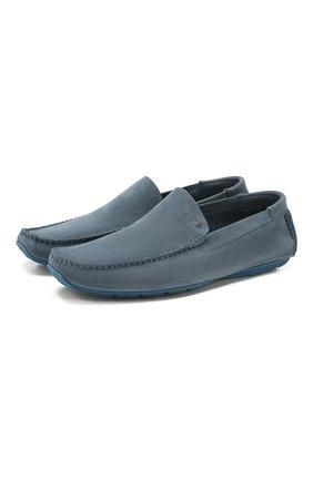 Мужские замшевые мокасины ALDO BRUE голубого цвета, арт. AB0019J-VS   Фото 1