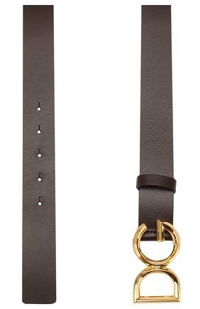 Мужской кожаный ремень DOLCE & GABBANA коричневого цвета, арт. BC4369/AV479 | Фото 2