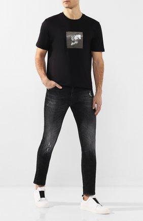 Мужские кожаные кеды PIERRE HARDY белого цвета, арт. JX02N/CALF | Фото 2