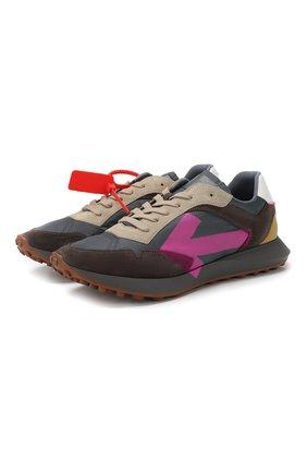 Мужские комбинированные кроссовки everyday OFF-WHITE серого цвета, арт. 0MIA159R20D390590828 | Фото 1