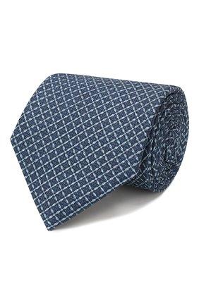 Мужской шелковый галстук ERMENEGILDO ZEGNA синего цвета, арт. Z7E10/1L8 | Фото 1