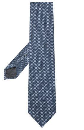 Мужской шелковый галстук ERMENEGILDO ZEGNA синего цвета, арт. Z7E10/1L8 | Фото 2