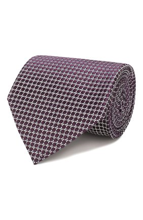 Мужской шелковый галстук ERMENEGILDO ZEGNA фиолетового цвета, арт. Z7E62/1UM | Фото 1