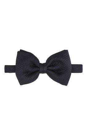 Мужской шелковый галстук-бабочка BRIONI темно-синего цвета, арт. 01L200/PZ416 | Фото 1