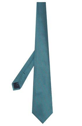 Мужской шелковый галстук BRIONI бирюзового цвета, арт. 062H00/P9441 | Фото 2
