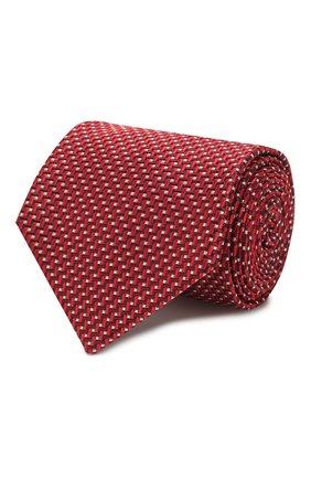 Мужской шелковый галстук BRIONI красного цвета, арт. 062H00/P9441   Фото 1 (Материал: Шелк, Текстиль; Принт: С принтом)