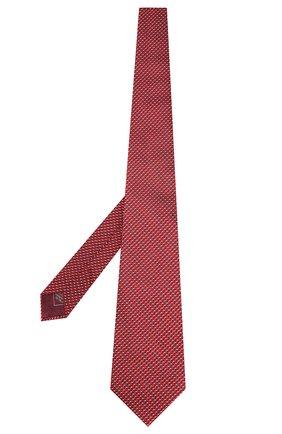 Мужской шелковый галстук BRIONI красного цвета, арт. 062H00/P9441   Фото 2 (Материал: Шелк, Текстиль; Принт: С принтом)