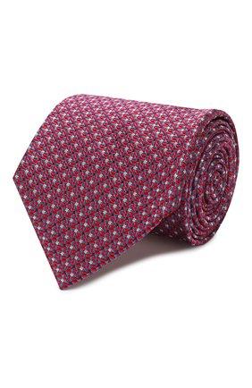 Мужской шелковый галстук BRIONI красного цвета, арт. 062H00/P9457   Фото 1 (Материал: Текстиль, Шелк; Принт: С принтом)