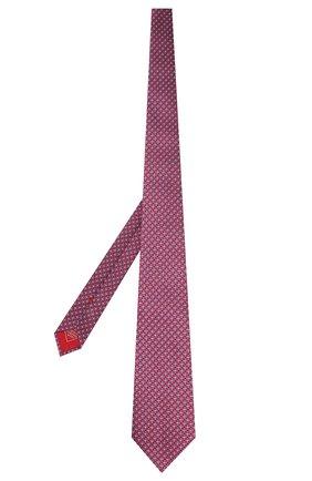 Мужской шелковый галстук BRIONI красного цвета, арт. 062H00/P9457   Фото 2 (Материал: Текстиль, Шелк; Принт: С принтом)