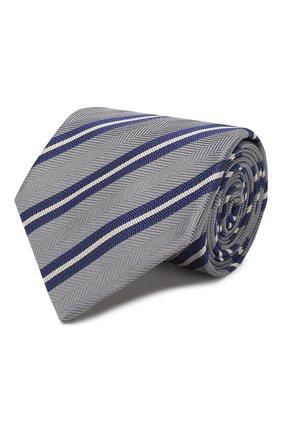 Мужской шелковый галстук BRIONI серого цвета, арт. 062H00/P9478 | Фото 1