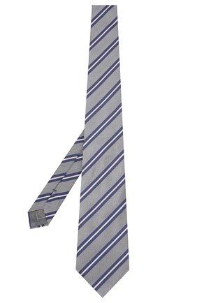 Мужской шелковый галстук BRIONI серого цвета, арт. 062H00/P9478 | Фото 2