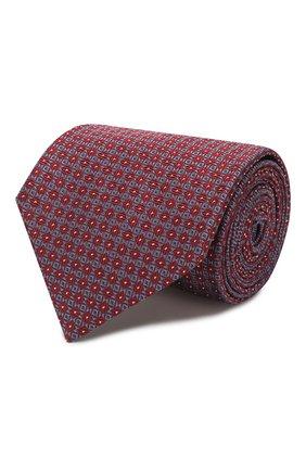 Мужской шелковый галстук BRIONI красного цвета, арт. 062I00/P9444 | Фото 1