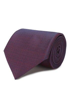Мужской шелковый галстук BRIONI фиолетового цвета, арт. 062I00/P9445 | Фото 1