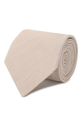 Мужской галстук из смеси шелка и льна BRIONI бежевого цвета, арт. 062I00/P9451 | Фото 1