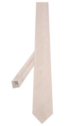 Мужской галстук из смеси шелка и льна BRIONI бежевого цвета, арт. 062I00/P9451 | Фото 2