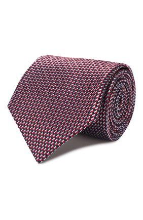 Мужской шелковый галстук BRIONI красного цвета, арт. 062I00/P9472   Фото 1 (Материал: Шелк, Текстиль; Принт: С принтом)