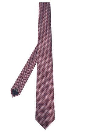 Мужской шелковый галстук BRIONI красного цвета, арт. 062I00/P9472   Фото 2 (Материал: Шелк, Текстиль; Принт: С принтом)
