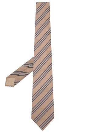 Мужской шелковый галстук BRIONI бежевого цвета, арт. 062I00/P9481 | Фото 2