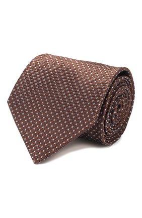 Мужской шелковый галстук BRIONI коричневого цвета, арт. 062I00/P9488   Фото 1