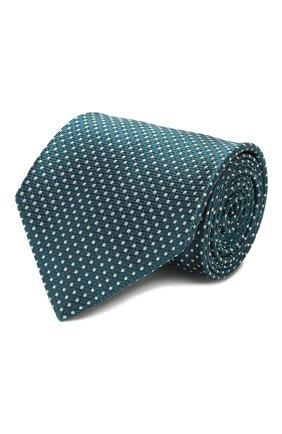 Мужской шелковый галстук BRIONI бирюзового цвета, арт. 062I00/P9488 | Фото 1