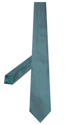 Мужской шелковый галстук BRIONI бирюзового цвета, арт. 062I00/P9488 | Фото 2