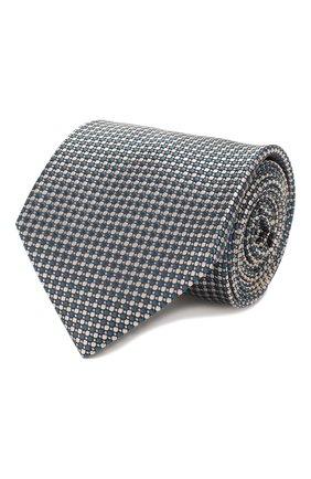 Мужской шелковый галстук BRIONI бирюзового цвета, арт. 062I00/P9490 | Фото 1