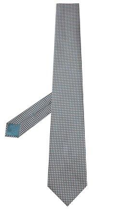Мужской шелковый галстук BRIONI бирюзового цвета, арт. 062I00/P9490 | Фото 2