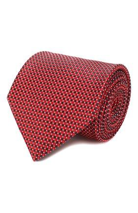 Мужской шелковый галстук BRIONI красного цвета, арт. 062I00/P9490 | Фото 1