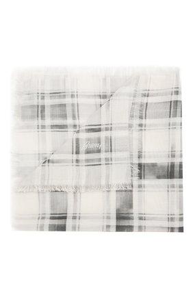 Мужской платок из смеси хлопка и шелка BRIONI серого цвета, арт. 071300/P940K | Фото 1