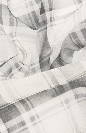 Мужской платок из смеси хлопка и шелка BRIONI серого цвета, арт. 071300/P940K | Фото 2
