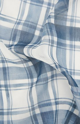 Мужской платок из смеси хлопка и шелка BRIONI голубого цвета, арт. 071300/P940K | Фото 2