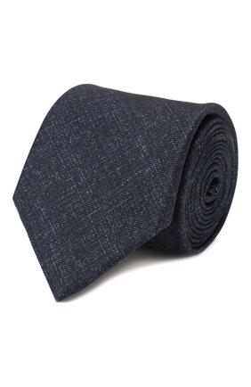 Мужской комплект из галстука и платка BRIONI темно-синего цвета, арт. 08A900/P940B   Фото 1