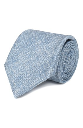 Мужской комплект из галстука и платка BRIONI голубого цвета, арт. 08A900/P940B   Фото 1