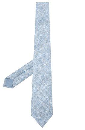 Мужской комплект из галстука и платка BRIONI голубого цвета, арт. 08A900/P940B   Фото 2