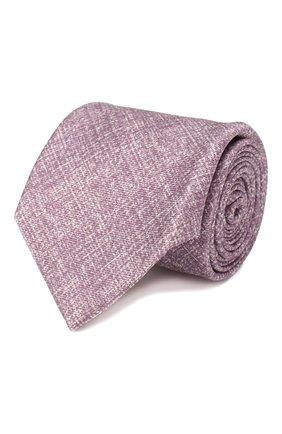 Мужской комплект из галстука и платка BRIONI сиреневого цвета, арт. 08A900/P940B | Фото 1