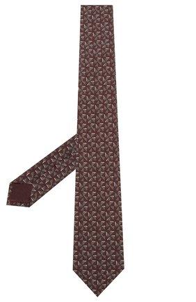 Мужской комплект из галстука и платка BRIONI бордового цвета, арт. 08A900/P942T   Фото 2