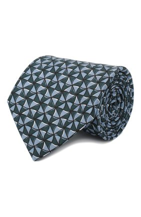 Мужской комплект из галстука и платка BRIONI голубого цвета, арт. 08A900/P942T   Фото 1
