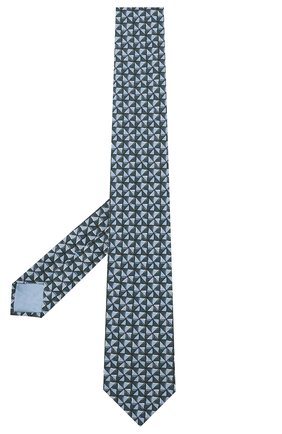 Мужской комплект из галстука и платка BRIONI голубого цвета, арт. 08A900/P942T   Фото 2