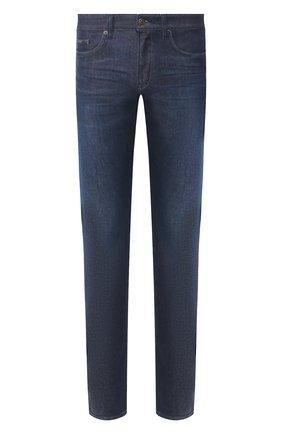 Мужские джинсы BOSS синего цвета, арт. 50421085   Фото 1