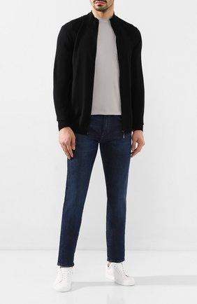 Мужские джинсы BOSS синего цвета, арт. 50421085   Фото 2