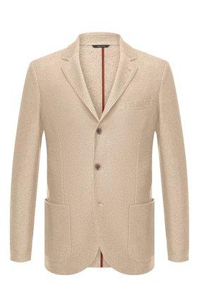 Мужской пиджак из шелка и кашемира LORO PIANA бежевого цвета, арт. FAI2572 | Фото 1