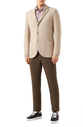 Мужской пиджак из шелка и кашемира LORO PIANA бежевого цвета, арт. FAI2572 | Фото 2