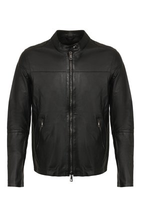 Мужская кожаная куртка GIORGIO BRATO черного цвета, арт. GU20S9451PMS0 | Фото 1