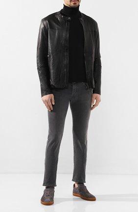 Мужская кожаная куртка GIORGIO BRATO черного цвета, арт. GU20S9451PMS0 | Фото 2