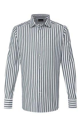 Мужская хлопковая рубашка ERMENEGILDO ZEGNA зеленого цвета, арт. 701347/9MS0M2   Фото 1