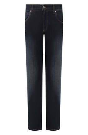 Мужские джинсы DOLCE & GABBANA темно-синего цвета, арт. GYQFCD/G8BY4   Фото 1