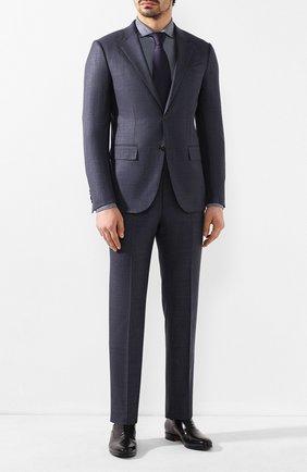 Мужская хлопковая сорочка CORNELIANI темно-синего цвета, арт. 85P012-0111239/00 | Фото 2
