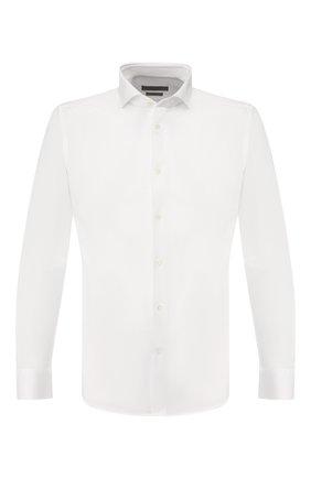 Мужская хлопковая сорочка CORNELIANI белого цвета, арт. 85P012-0111213/00 | Фото 1